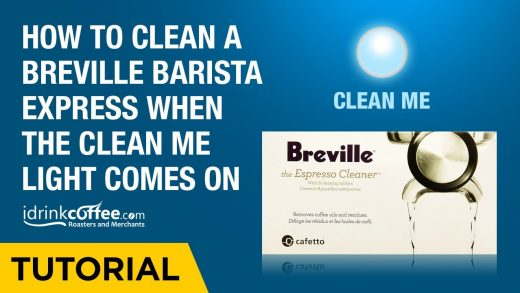 How to clean a Breville Barista Express when the Clean Me light comes on -  YouTube