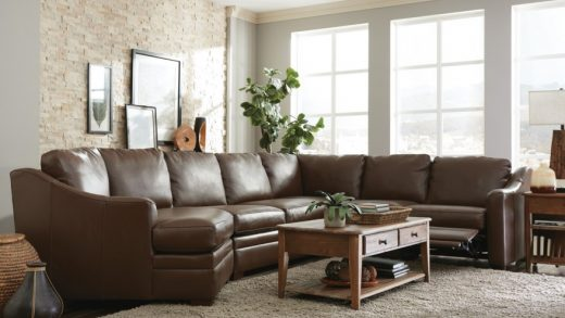 Craftmaster L9 Custom - Design Options Customizable 3 Piece Leather  Sectional Sofa with 1 Power Recliner and LAF Cuddler Chair | Suburban  Furniture | Reclining Sectional Sofas