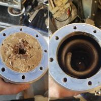 Scale buildup in a commercial espresso machine. : WTF