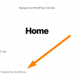 How to Remove Proudly Powered by WordPress Footer Link » NJENGAH
