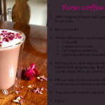 Rose coffee recipe! – Coffee with the Queen