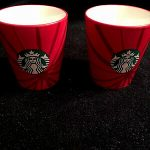 Starbucks Red Espresso Shot Glass 3 oz Cup Retired 2014 Holiday Coffee  Advertising Food & Beverage