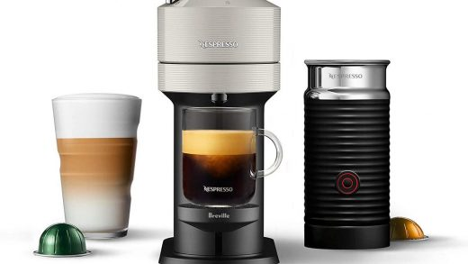 This chic nespresso capsule coffee maker is almost 50% off on Amazon