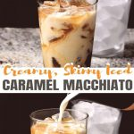 This Skinny Iced Caramel Macchiato Recipe is creamy and naturally  sweetened! Learn my EASY method f