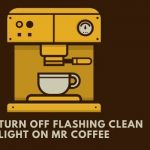 How to turn off flashing clean light on mr coffee?