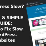 WordPress Slow? Here's Why AND How To Fix It & Speed It Up! (QUICK &  SIMPLE) ????