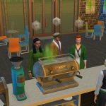 In all of my cafés the baristas are using NASTY espresso machines. How do I  get the Sims to clean them? : thesims
