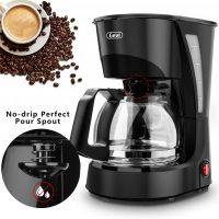 Kitchen & Dining Drip Coffee Maker GEVI 4 Cup Coffee Machine Work in Silent  Coffee Brewer with Coffee Pot and Filter for Home and Office Coffee, Tea &  Espresso