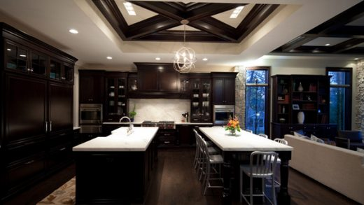 22 Beautiful Kitchen Colors with Dark Cabinets | Home Design Lover