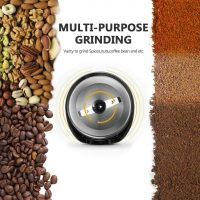 Kitchen & Dining Noiseless Operation,Coffee Bean & Spice Grinder with 60g  Large Grinding Capacity GECGI140-U-2B Gevi 150W Stainless Steel Blade  Grinder for Coffee Espresso Latte Mochas Coffee, Tea & Espresso Appliances