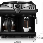 Filter and Pods Coffee Machine with Milk Frother,Compatible Professional Espresso  Cappuccino Coffee Maker Machine Home -