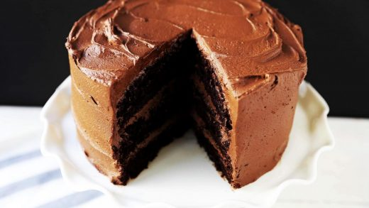 Chocolate Espresso Cake with Chocolate Curls - Curly Girl Kitchen
