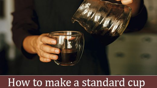 How to make a standard cup of espresso and American coffee - while coffee