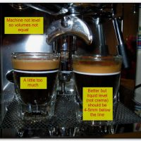 Shot Timings and Volumes - Coffeetime