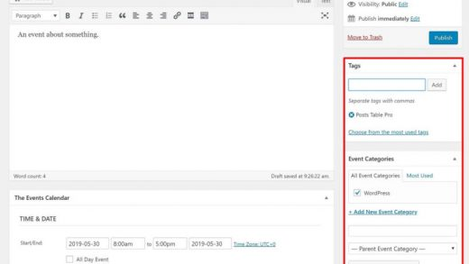 Create a WordPress Events Table or List with The Events Calendar Plugin