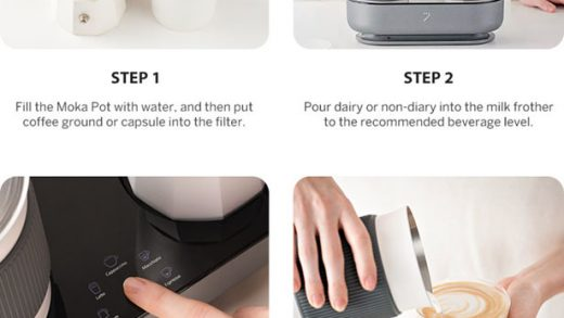 Seven & Me Espresso Maker Features 5 Programmed Modes and Auto Milk Frother  - Tuvie