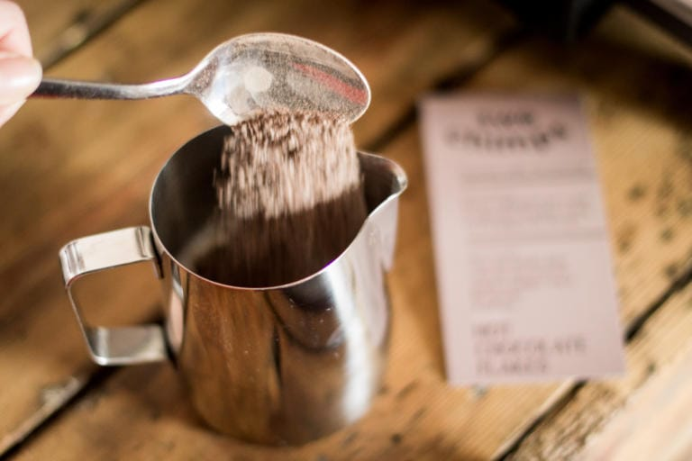 How To Make a Hot Chocolate Using an Espresso Machine - Two Chimps Coffee